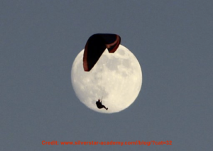 Full Moon with paraglider